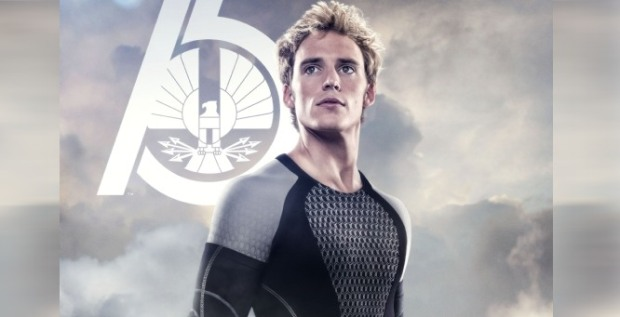 Finnick Odair, played by Sam Claflin in the 2013 movie adaptation of The Hunger Games: Catching Fire
