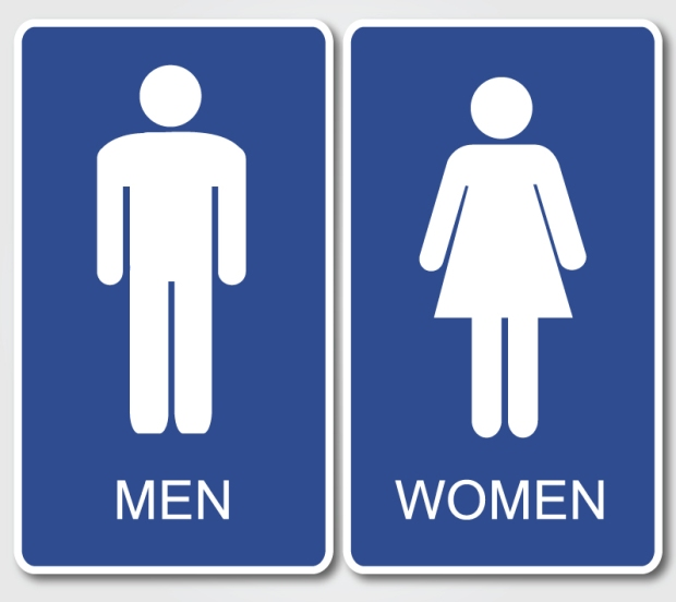 What ideologies and hegemonic structures are upheld when restrooms are structured according to a gendered binary? What fears or insecurities uphold this divide? How is this divide complicated by the fact that not everyone fits neatly within the categories of male or female?