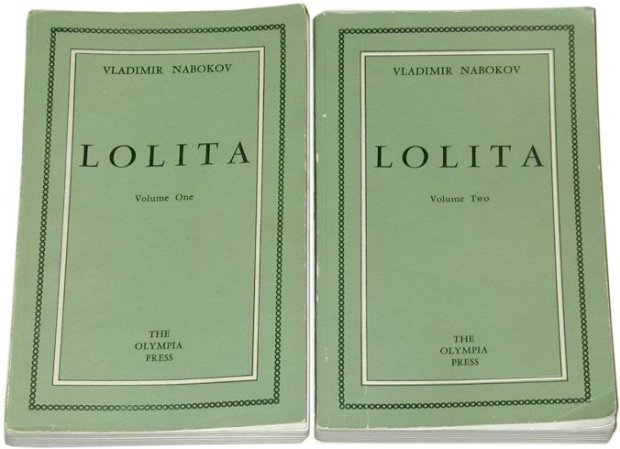 First edition of Vladimir Nabokov's Lolita (Volumes I and II)