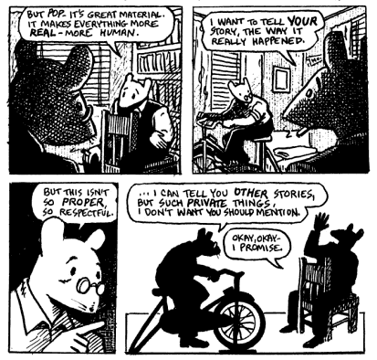 character analysis for maus by art Art spiegelman's maus: working-through the trauma of the holocaust  in his  decisive essay of 1916, mourning and melancholia, referred to many times in.