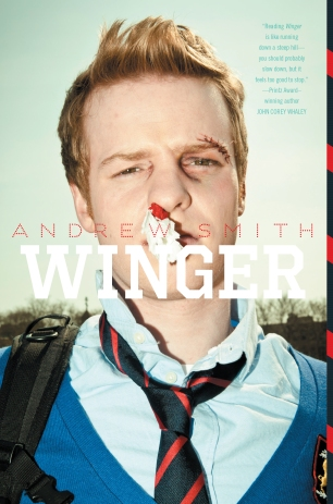 Front cover of Andrew Smith's Winger (2013)